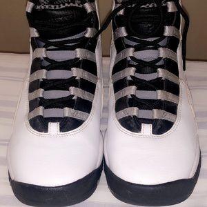 "RARE Nike Air Jordan Retro 10 X ""Steel"" Size 6"